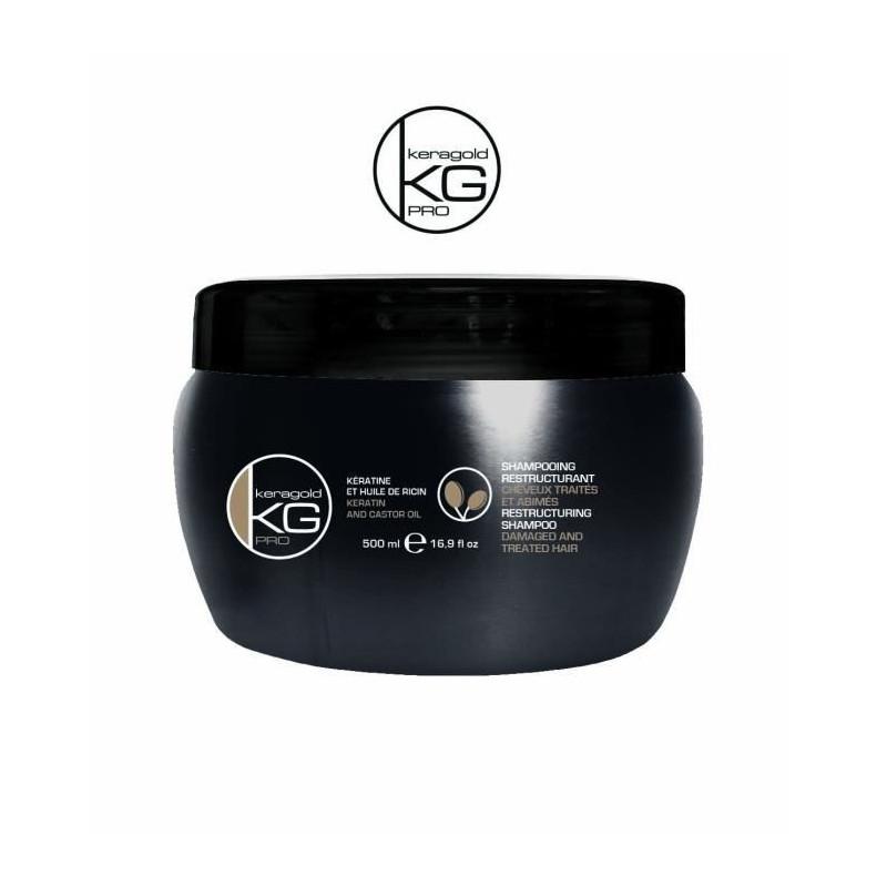 Masque kératine et huile de ricin - Keragold Pro 500ml