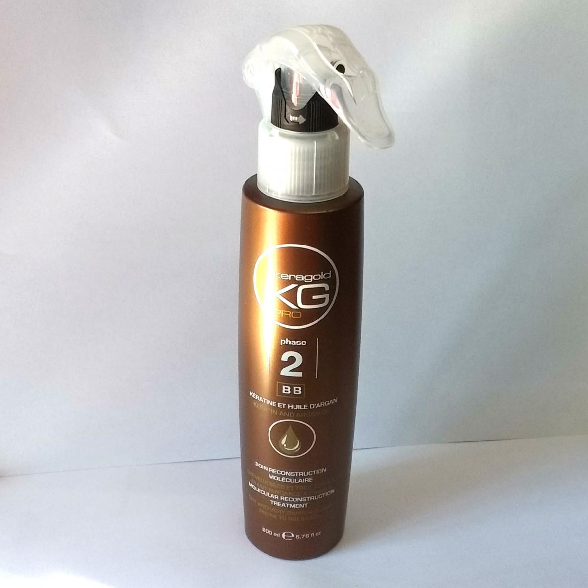 Soin kératine et huile d'argan BB - Keragold Pro 200ml